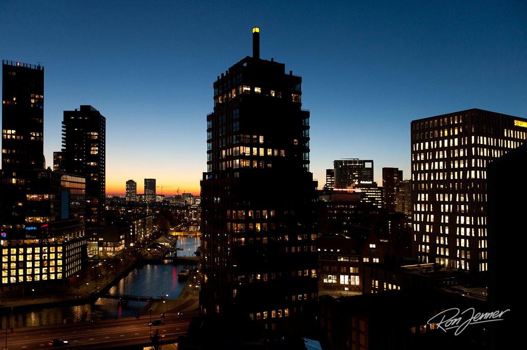 Rotterdam avondlicht