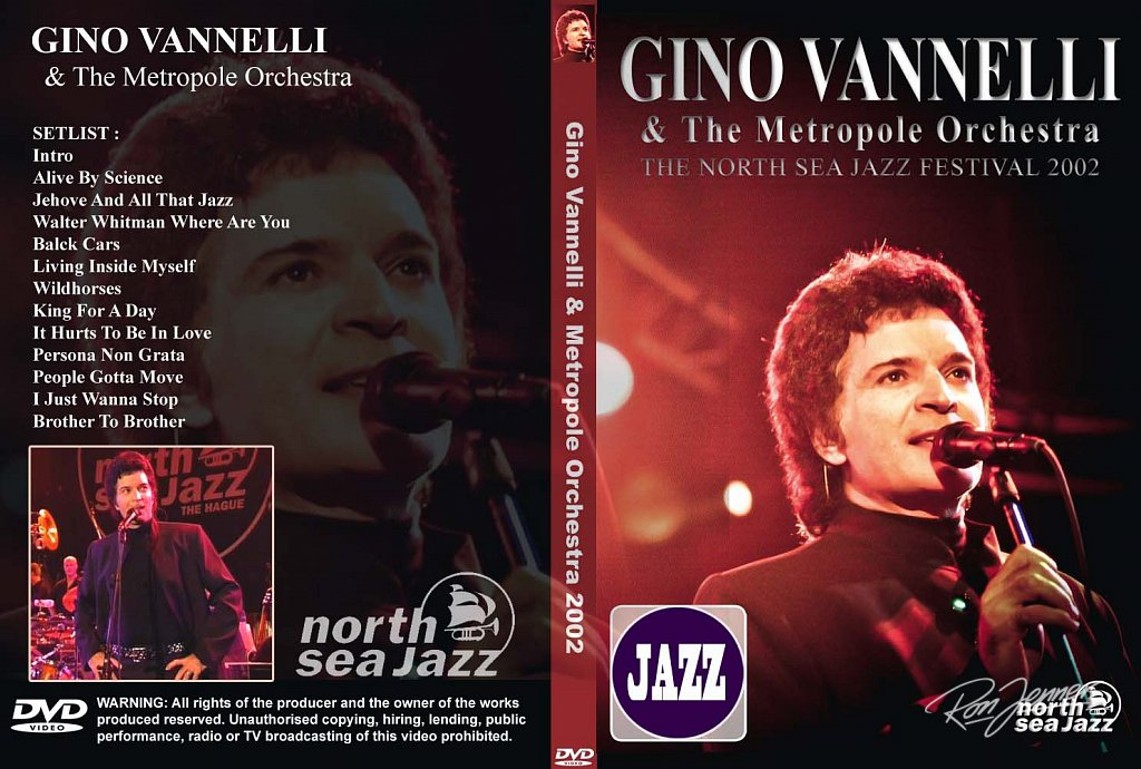 DVD Cover 2002 Gino Vannelli wit photo by Ron Jenner